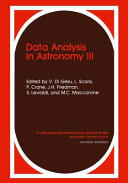 Data Analysis in Astronomy III (2012)
