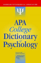 APA College Dictionary of Psychology - American Psychological Association (ISBN: 9781433804335)