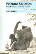 Primate Societies - Group Techniques of Ecological Adaptation (2006)