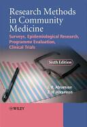 Research Methods in Community Medicine (2008)