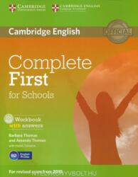 Complete First for Schools Workook with Answers & Audio CD (ISBN: 9781107656345)