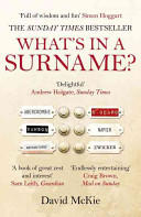What's in a Surname? - A Journey from Abercrombie to Zwicker (2014)