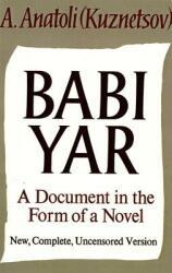 Babi Yar - A. Anatoli, David Floyd (ISBN: 9780374528171)