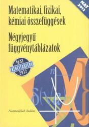 Matematikai, fizikai, kémiai összefüggések - Négyjegyű függvénytáblázatok (ISBN: 9789631969825)