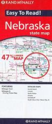 Rand McNally Easy to Read! Nebraska State Map (ISBN: 9780528881848)