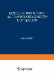 Erƶ eugung Und Prufung Lichtempfindlicher Schichten Lichtquellen - M. Andresen, F. Formstecher, W. Heyne, NA Jahr (ISBN: 9783709131589)