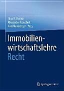 Immobilienwirtschaftslehre - Recht (ISBN: 9783658069865)