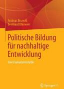 Politische Bildung Fur Nachhaltige Entwicklung (ISBN: 9783658028534)