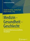 Medizin - Gesundheit - Geschlecht (ISBN: 9783531183213)