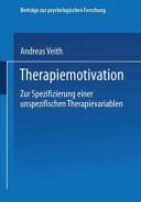 Therapiemotivation (ISBN: 9783531128719)