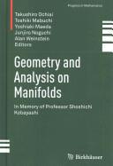 Geometry and Analysis on Manifolds - Takushiro Ochiai, Toshiki Mabuchi, Yoshiaki Maeda, Junjiro Noguchi, Alan Weinstein (ISBN: 9783319115221)