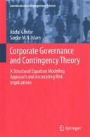Corporate Governance and Contingency Theory - Abdul Ghofar, Sardar M. N. Islam (ISBN: 9783319109954)