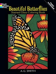 Beautiful Butterflies Stained Glass Coloring Book (ISBN: 9780486430614)