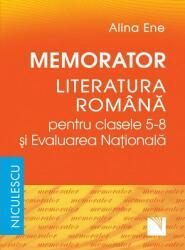 Memorator. Literatura română pentru clasele 5-8 şi Evaluarea Naţională (ISBN: 9789737489159)