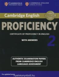 Cambridge English Proficiency 2 Student's Book with Answers - CELA (ISBN: 9781107686939)