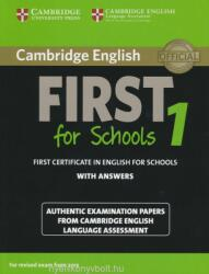 Cambridge English First 1 for Schools for Revised Exam from 2015 Student's Book with Answers - Cambridge English Language Assessment (ISBN: 9781107647039)