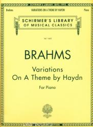 Johannes Brahms: Variations On A Theme Of Haydn For Piano (ISBN: 9780793520589)