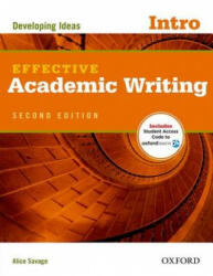 Alice Savage: Effective Academic Writing 2e Intro Student Book (ISBN: 9780194323451)