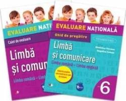 Evaluare națională. Limbă și comunicare. Limba română - Limba engleză. Ghid de pregătire. Clasa a VI-a (ISBN: 9786063309458)