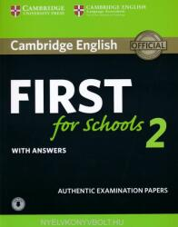 Cambridge English First for Schools 2 Student's Book with answers and Audio (ISBN: 9781316503522)
