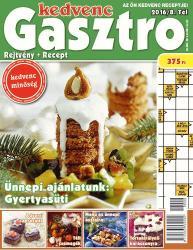 Kedvenc Gasztro rejtvénylap 2016/8 (2016)