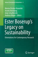 Ester Boserup's Legacy on Sustainability (ISBN: 9789401786775)