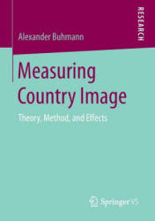 Measuring Country Image - Theory, Method, and Effects (ISBN: 9783658154066)