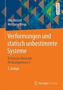 Verformungen und statisch unbestimmte Systeme - Technische Mechanik fur Bauingenieure 3 (ISBN: 9783658114619)
