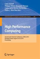 High Performance Computing - Second Latin American Conference, CARLA 2015, Petropolis, Brazil, August 26-28, 2015, Proceedings (ISBN: 9783319269276)