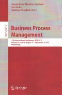 Business Process Management - 13th International Conference, Bpm 2015, Innsbruck, Austria, August 31 -- September 3, 2015, Proceedings (ISBN: 9783319230627)
