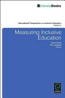 Measuring Inclusive Education (ISBN: 9781784411466)
