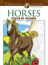 Horses Color by Number Coloring Book (ISBN: 9780486793849)