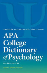 APA College Dictionary of Psychology (ISBN: 9781433821585)