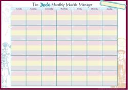 Dodo Monthly Muddle Manager Pad - A3 Desk Sized Monthly-Calendar-Jotter-Doodle-Tear-off-Notepad (2015)