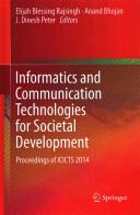 Informatics and Communication Technologies for Societal Development (ISBN: 9788132219156)