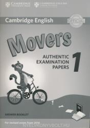Cambridge English Movers 1 for Revised Exam from 2018 Answer Booklet (ISBN: 9781316635940)