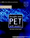 Insight into PET Student's Book with Answers (ISBN: 9780521527552)