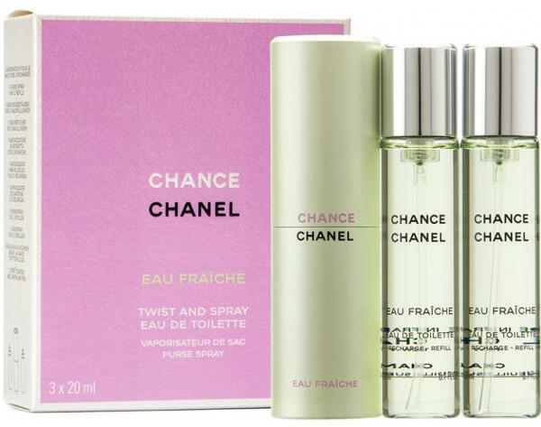CHANEL Chance Eau Fraiche Twist   Spray (Refills) EDT 3x20ml parfüm ... a2e503ca6