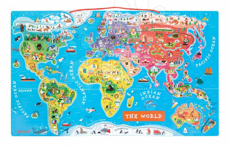 Janod Harta Lumii J05504 Puzzle Preturi