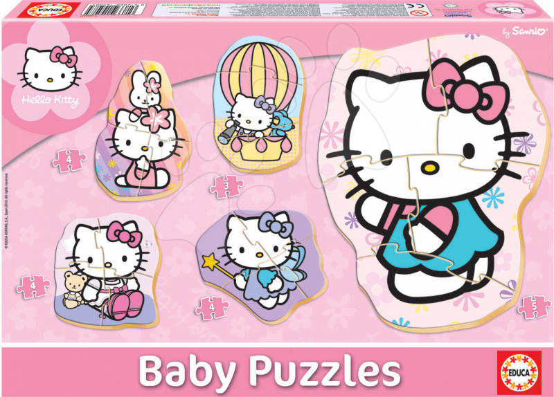 8029dd0494 Vásárlás: Educa Hello Kitty 5 db-os bébi puzzle 24 hónapos kortól ...