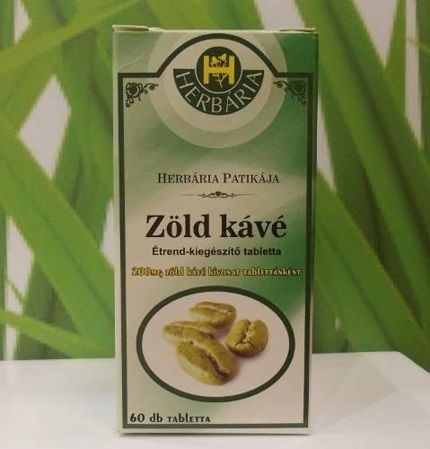 herbária zöld kávé tabletta)
