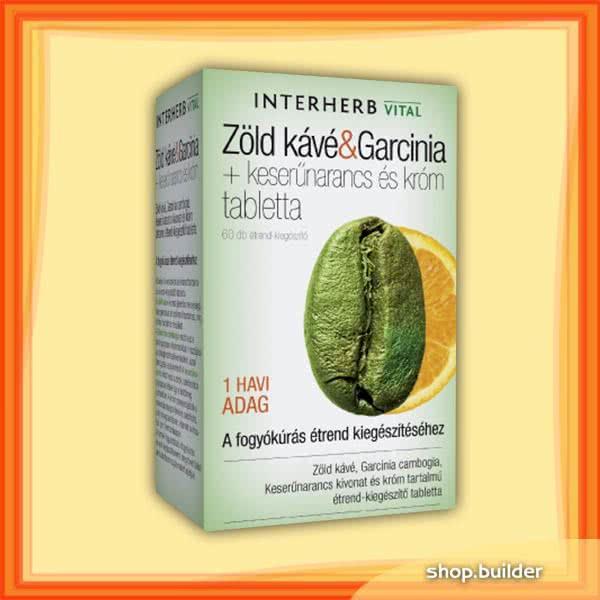 Interherb Zöld Kávé És Garcinia Tabletta - 60 db