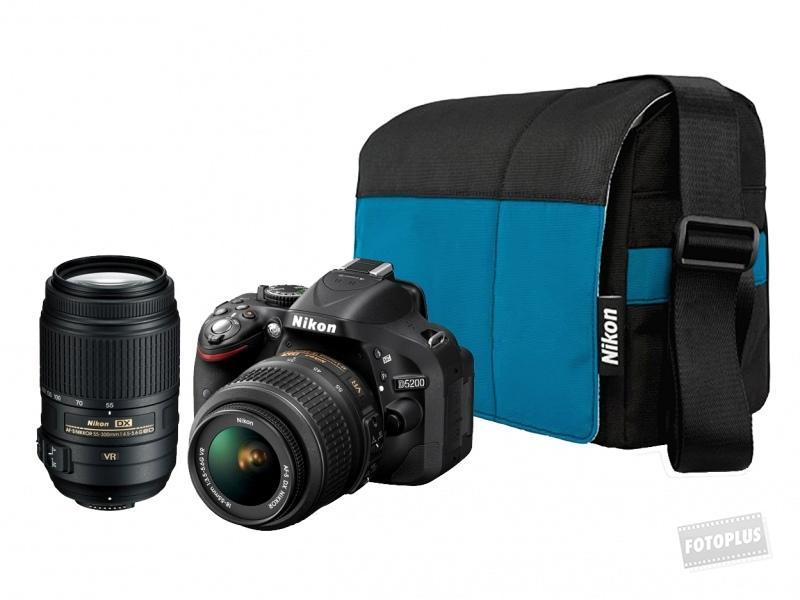 831476393133 Nikon D5200 + 18-55mm VR II + 55-300mm VR Digitális fényképezőgép