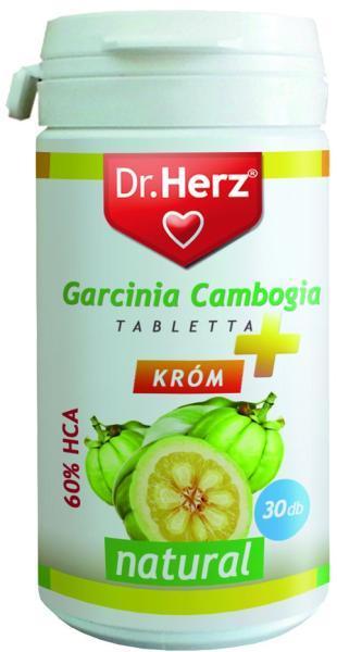 Dr.Herz Garcinia Cambogia kivonat 1000mg 30 db tabletta + króm