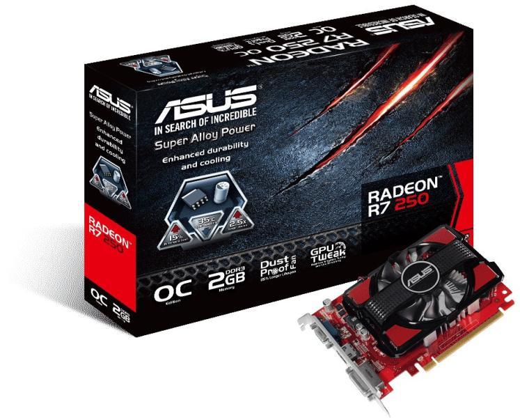 ASUS Radeon R7 250 OC 2GB GDDR3 128bit PCIe (R7250-OC-2GD3