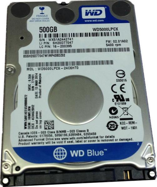f2811d563613 Western Digital Blue 2.5 500GB 5400rpm 8MB SATA3 WD5000LPCX vásárlás ...