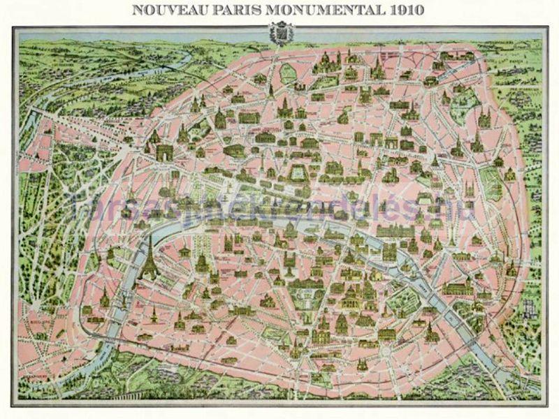 Vasarlas Piatnik Parizs 1910 Terkep 1000 Db Os 542848 Puzzle