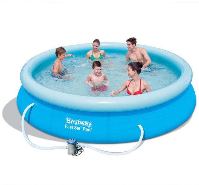 cc4ef6b8910c Bestway Rodosz puhafalú medence szett vízforgatóval 366x76cm (FFA 639/57274)