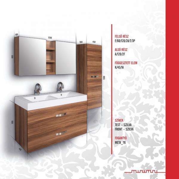Vásárlás: Vertex MINIMAL DESIGN 120 Titania bútor összeállítás M120_TITANIA Fürdőszoba bútor ...