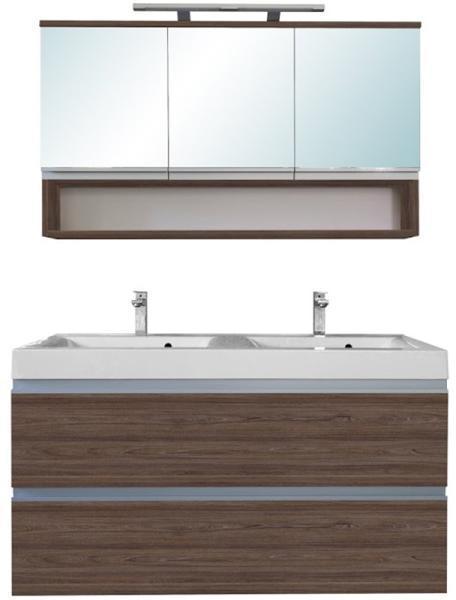 Vásárlás: Leziter SOL 120 komplett fürdőszoba bútor, wenge, 3 ajtós, tükrös felső résszel ...